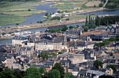 Honfleur, town view from Cote de Grace. Normandy. France