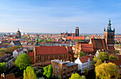 St Mary s (left) and St Joseph s (right) Churches in Gdansk. Pomerania. Poland