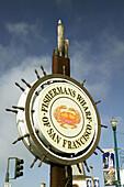 Sign at Fisherman s Wharf. San Francisco. California, USA