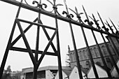 Star of David fence decoration at Kazimierz old Jewish quarter. Krakow. Poland