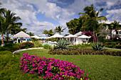 Turks & Caicos, Providenciales Island, Grace Bay: View of Ocean Club Hotel
