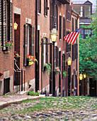 Acorn Street. Boston. Massachusetts. USA