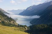 View over Kauner Valley with Gepatsch reservoir, Tyrol, Austria