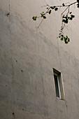 Grey concrete house wall, Berlin, Germany