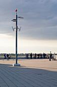 Visitors terrace in front of the airfield, Düsseldorf Airport, Düsseldorf, North Rhine-Westfalia