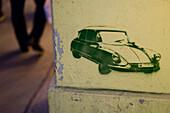Straßenkunst an Hauswand, Wien, Österreich
