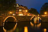 Amsterdam Herengracht Daemmerung