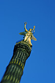 Berlin  victory column blurred