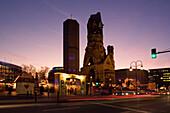Berlin,christmas market, Kaiser Wilhelm memory church, christmas market  lights at dusk
