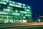 Berlin KPMG headquarter in Tiergarten at dusk