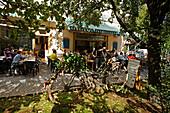 Berlin Kreuzberg Bar Cafe Morena outdoors, bicycle