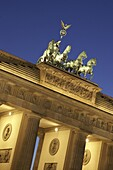 Berlin, Brandenburg gate , Quadriga, twilight