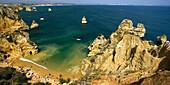Portugal Algarve bei Lagos,  Ponta da Piedade , Atlantik Kueste Felsen