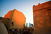United Arab Emirates Dubai, One & Only Royal Mirage, Arabian court,  five star Hotel at Jumeirah beach  , Rooftop bar sunset