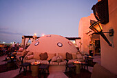 United Arab Emirates Dubai, One & Only Royal Mirage, Arabian court,  five star Hotel at Jumeirah beach  , Rooftop bar sunset