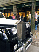 Switzerland, Zurich, Cartier, Bahnhofstrasse, Rolls Royce, people