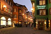 Switzerland Zurich, Augustinergasse, old city center christmas illumination