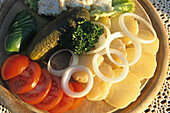 Harzer cheese platter, Harz mountains, Germany