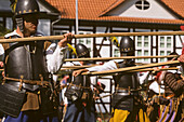 Sehusa Festival, medieval battle, Seesen, Harz Mountains, Lower Saxony, northern Germany