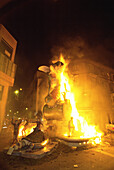 Fallas, festive bonfires on the night of St. Joseph. Valencia. Spain