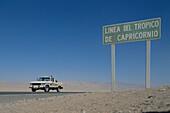 Tropic of Capricorn. Atacama Desert. Chile