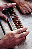 Activity, Adult, Adults, Aged, Color, Colour, Contemporary, Cuban, Cubans, Domino, Dominoes, Dominos, Elderly, Ethnic, Ethnicity, Exterior, Game, Games, Hand, Hands, Human, Leisure, Male, Man, Mature adult, Mature adults, Mature people, Men, Oap, Old age