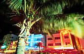 South Beach. Miami Beach. Hotels in Ocean Drive, Art Deco District. Florida. USA