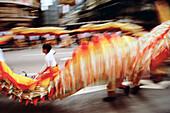 Dragon dancers. Hong Kong. China