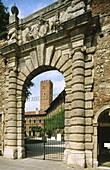 Teatro Olimpico, a present from Andrea Palladio to Vicenza , his hometown. Veneto. Italy