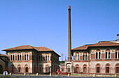 View of Crespi d Adda, a worker s village in Lombardy, Italy. A World Heritage Site.