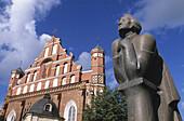 Statue of Adam Mickiewicz. St. Anne s Church. Vilnius. Lithuania.