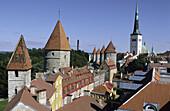 St. Olaf church. Lower town walls. Old town. Tallinn. Estonia.