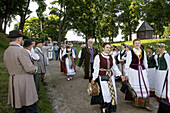 Midsummer Day, feast of St. John in Kernave. Lithuania