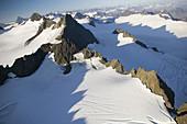 Above the Kenai Mountains & Grewingk Glacier. Aerial. Kenai National Wildlife Refuge. Kenai Peninsula. Alaska. USA.