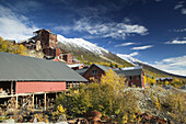 Kennecott Mill Town (Old Copper Mine in operation 1911-1938). View of Abandoned Mill Buildings. Kennecott National Historic Landmark. Interior. Alaska. USA.