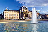 Late Afternoon Light on the Ecole Militaire. Eiffel Tower Area. Paris. France.