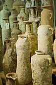 Archeological Museum of Baglio Anselmi: Earthenware Vessels found on the Island of Motya, Marsala. Sicily, Italy