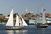 America s Oldest Seaport. Gloucester Schooner Festival. Schooners in the Harbor. Gloucester. Cape Ann. Massachusetts. USA.