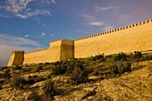 Morocco. Atlantic Coast. Agadir: Ancient Kasbah Walls. Dawn
