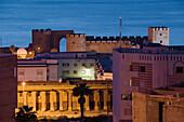 Morocco. Atlantic Coast. Safi: Qasr. al. Bahr Portuguese Fort (b.1508) & Town. Evening