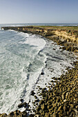 Morocco. Atlantic Coast. El Jadida (Area): Coastal cliffs Dar ed Dou. Late Afternoon