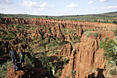 Red marl erosion. Konso country. Ethiopia.