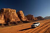 Driving in Wadi Rum, Jordan