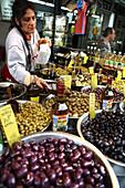 Saleswoman at Carmel Market, Sook Hakarmel, Tel Aviv, Israel