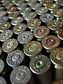 Ammo, Ammunition, Ammunitions, Bullet, Bullets, Close up, Close-up, Closeup, Color, Colour, Danger, Firearm, Firearms, Hazard, Indoor, Indoors, Interior, Many, Metal, Object, Objects, Thing, Things, Violence, Violent, Weapon, Weapons, C47-550763, agefoto