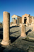 Ancient history, Antiquity, Archaeology, Architecture, Color, Colour, Column, Columns, Daytime, Exterior, History, Outdoor, Outdoors, Outside, Remain, Remains, Ruins, Travel, Travels, Vertical, World locations, World travel, E12-322397, agefotostock