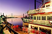 Steamboat in Savannah. Georgia. USA
