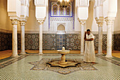 Muslim washing before prayer. Moulay Ismail Memorial. Meknès. North Morocco.
