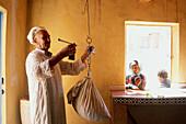 Buying Roses (Rosa Damascena). Roses valley producer. M Gouna. South. Morocco.