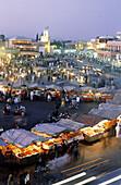 Jemaa el Fna square. Marrakech. Morocco.